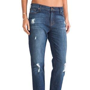 J Brand Aidan Boyfriend Ripped Jeans Ringer 24